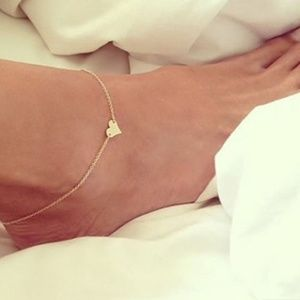 Jewelry - Boho Beach Gold Heart Anklet